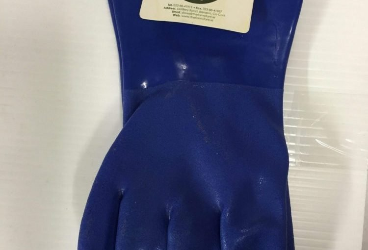 PVC LINED BLUE FARMSTORE GLOVE 5 PACK